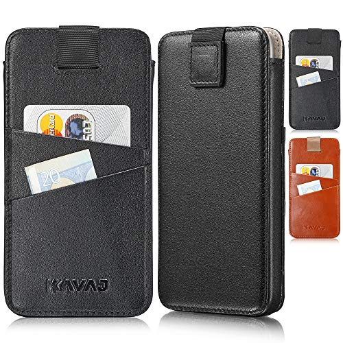 KAVAJ Case Compatible With Apple iPhone 12 Mini 5.4' Leather - Miami - Black Wallet Cover Phone Case with card holder