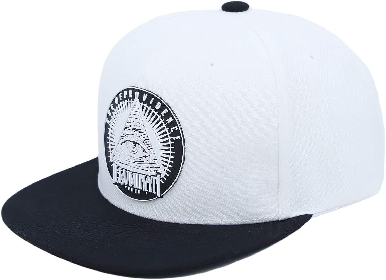 WITHMOONS Illuminati Patch Snapback Hat Cap Baseball Quantity limited Brim A 5 ☆ popular Flat