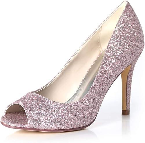 Moojm Sandalias para las mujeres, tacones altos multiColor boca dedos de los pies 9cms sandalias de las señoras con el resbalón de la elasticidad en sandalias