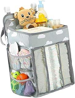 حقيبة تخزين بجانب السرير من كابيلوك متعددة الاغراض، حقيبة تخزين لسرير الطفل، منظم للحفاضات ولغرف النوم