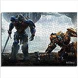 KKASD Puzzle para Adultos 1000 Abejorro Optimus Prime 1000 Rompecabezas por día Juguete del Juego del Rompecabezas del desafío del Cerebro (75x50cm)