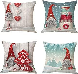 Zivsik Swedish Gnome Scandinavian Tomte Throw Pillow Covers - Yule Santa Nisse Nordic Elf Figurine Christmas Decorative Cushion Cases Xmas Winter Holiday Decor - 18