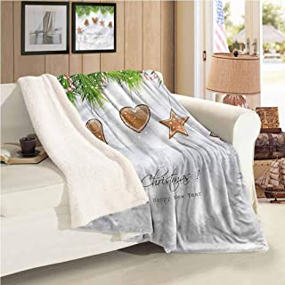 Christmas Winter Quilt Gingerbread Fir Tree Personalized Baby Blanket Twin Size
