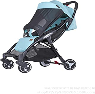 Baby Stroller Folding Pushchair, Newborn Compact Travel Buggy One Step Design for Opening and Folding Travel System City Tour Plume, Green