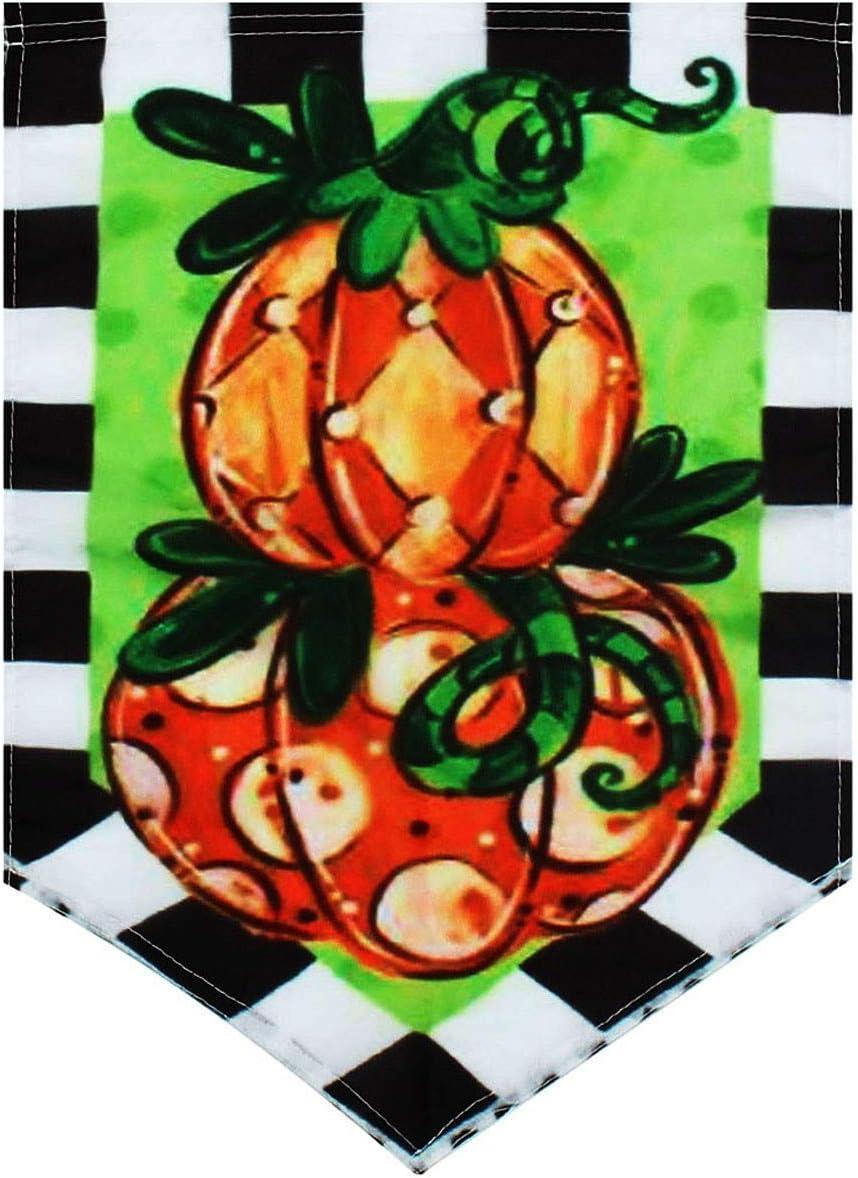 KINGDUO 12.5 ' ' x18 ' ' Jardín Bandera Tom Calabaza Topiary Otoño Vacaciones Otoño Yarda Banner Decoraciones
