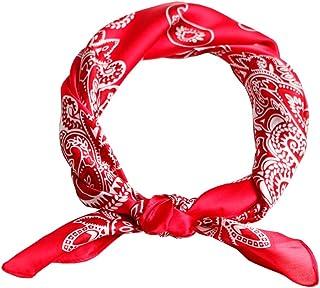 Sienna Rose Pink Block Printed Bandana  Scarf  Wrap  Headband  Neckerchief  Neck Tie