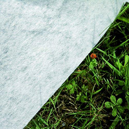 Gre MPR350 - Manta Protectora para Piscina Redonda de entre 300 cm y 350 cm de Diámetro, Color Blanco
