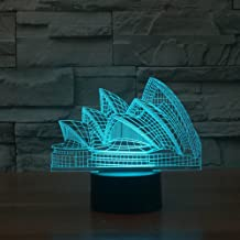 Tons 3D Night Light Colorful Touch Control Light 7 Colors Change USB LED for Desk Table with Multicolored USB Powered Home Decoration Best Gift for Kids (Sydney Opera House)