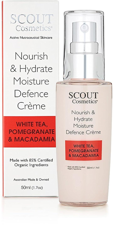 疼痛常習的クライマックスSCOUT Cosmetics Nourish & Hydrate Moisture Defence Creme with White Tea, Pomegranate & Macadamia 50ml/1.7oz並行輸入品