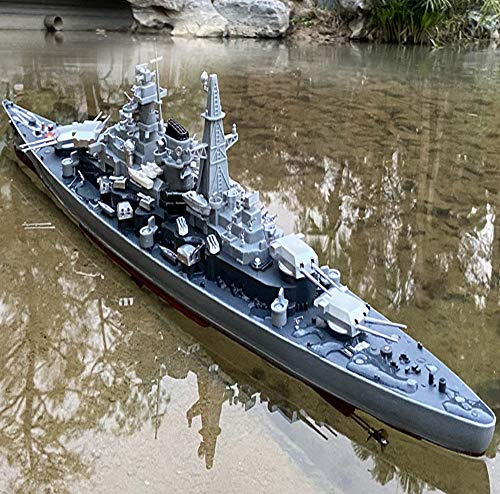 28' Inch Remote Controlled Warship Battleship 20-25km/h 4WD 2.4G Rc Radio Controlled Ship On Water Lakes Pools Exhibits Models