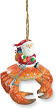Cape Shore Beach Santa Riding Crab Claw Tiki Christmas Ornament