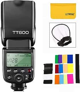 【技適マーク付き&PDF日本語説明書】GODOX TT600 カメラフラッシュ ストロボ 内蔵2.4G ワイヤレストリガ・システム 1/8000S高速シンクロ Canon, Nikon, Pentax, Olympus その他のデジタルカメラ用