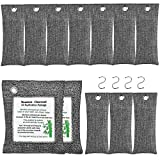 KEEOU 12packs Bamboo Charcoal Air Purifying Bags, Efficient Odor Eliminators for Home, Natural Activated Charcoal Odor Absorber Air Freshener Moisture Absorber for Home Closet Fridge Car (12 Pack)