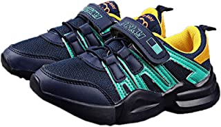 Hopscotch LCL - Walktrendy Faux Leather Strap Sneakers Shoes for Boys and Girls - Navy