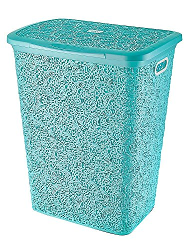 Maya Professional Tools 081075T Wasmand met deksel, 57 l, turquoise