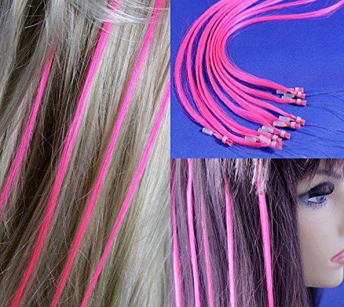 18 inch Micro Rings Loop Human Hair Extensions /10 Strands/Pink