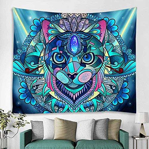 QJIAHQ Tapiz de 7 Colores Escena Mandala Tapiz decoración del hogar Tapiz cojín Bohemio sofá Manta Estera de Yoga 150x200cm