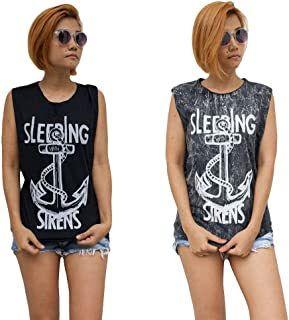 HOPE & FAITH Womens Sleeping with Sirens Tank Top Singlet Vest Sleeveless T-Shirt