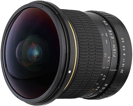 MagiDeal 8mm f/3.5 HD Aspheric Super Wide Fisheye Lente para Canon EOS Cámara DSLR Herramientas