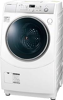 シャープ SHARP ドラム式洗濯乾燥機(ヒーターセンサー乾燥) ホワイト系 左開き(ヒンジ左) 幅640mm 奥行729mm DDインバーター搭載 10kg ES-H10C-WL