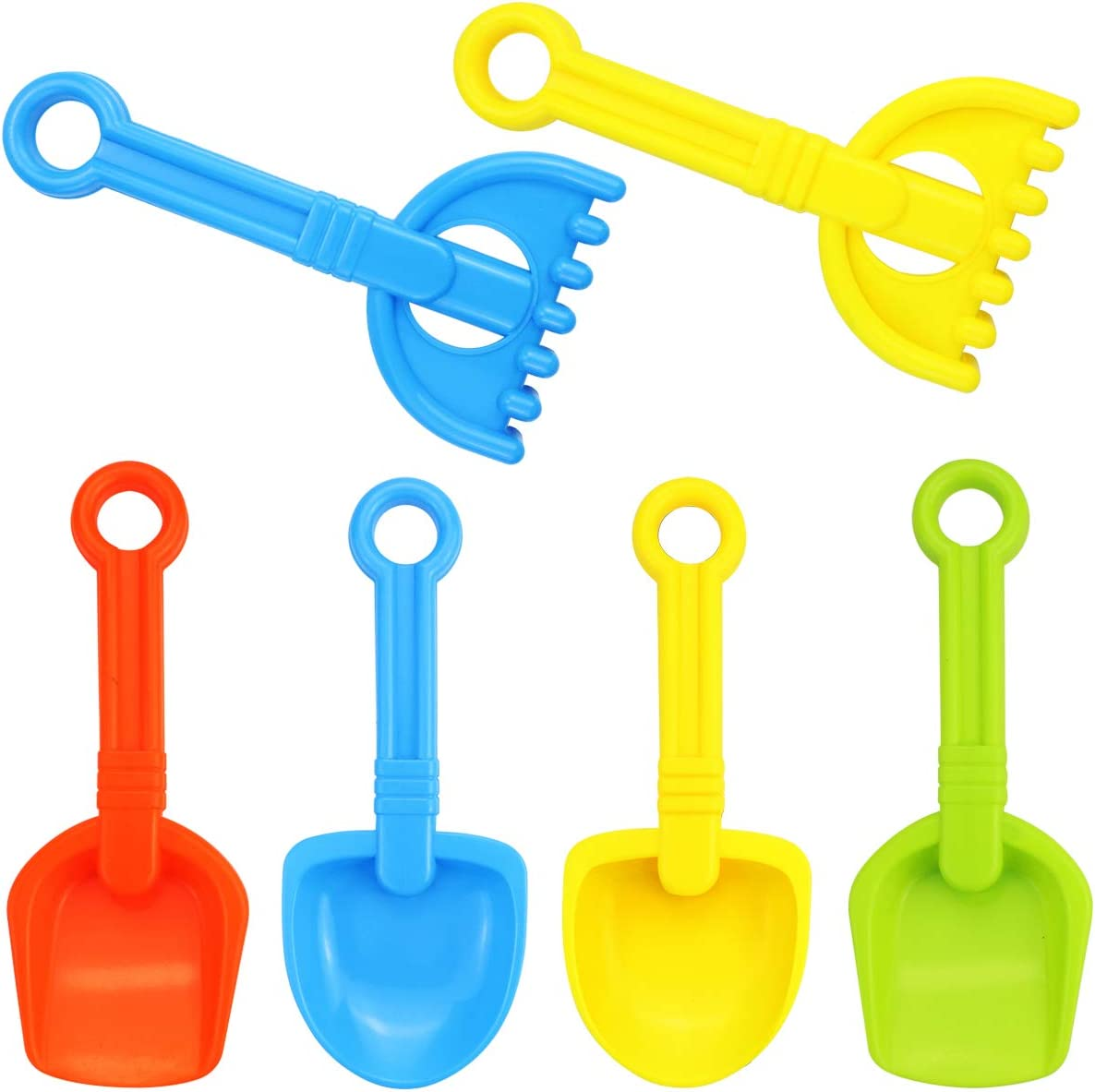 Faxco 6 Pack 9.5'' Colorful Toy Scoop Max 69% OFF Beach Plastic Max 75% OFF Rake Sco