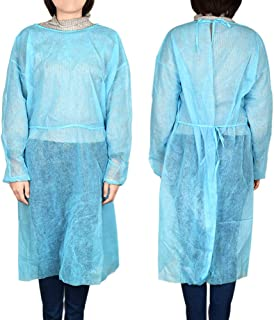 Anself Disposable Isolation Surgical Gown with Elastic Cuff Non-Woven Splash Resistant for Tattoo Eyebrow Artist and Surge...