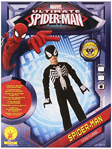 Rubies Costume Spiderman Officielle pour 7–8 Ans – Large, Noir