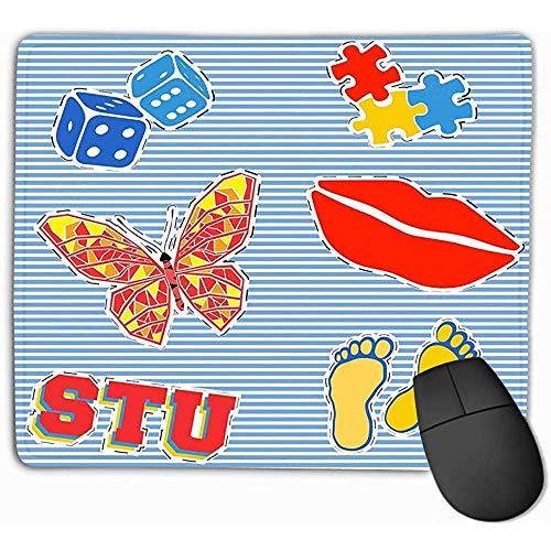 Emonye Mouse Pad Patch Badge Print Vintage Stamp Printing Applique Labels Jeans Casual Wear Puzzle Butterfly Mousepad 25 * 30CM