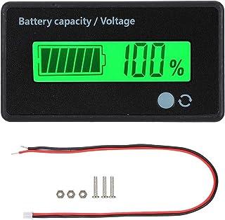 Pantalla LCD de Capacidad de batería con Alarma de luz de Sonido.Monitor de medidor de Voltaje 12-84V/Probador de Capacida...