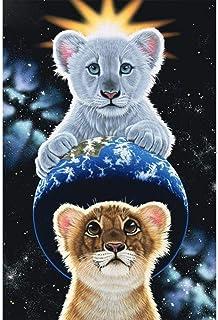 キャンバスアート壁ポスター かわいい動物の虎 海报 绘画 帆布艺术 室内装饰 壁挂 墙壁海报 HD时尚海报