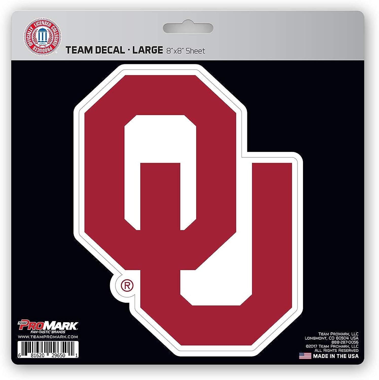 ProMark NCAA Oklahoma Sooners Unisex Oklahoma Sooners Decal Die Cutoklahoma Sooners Decal Die Cut, Team color, 8x8