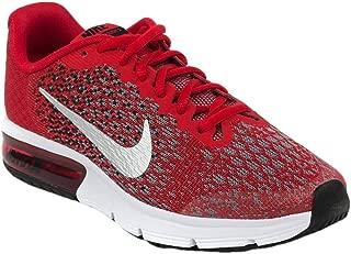 Nike Kids Air Max Sequent 2 Shoe (GS) (University Red/Metallic Silver, 5 M US Big Kid)