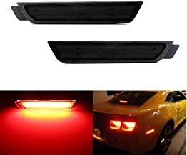 iJDMTOY Smoked Lens Red Full LED Rear Side Marker Light Kit For 2010-15 Chevy Camaro, Powered by 27-SMD LED, Replace OEM Back Sidemarker Lamps