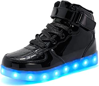 Rojeam Kids Lights Shoes Boy and Girl High Top LED Energy Lights Sneakers