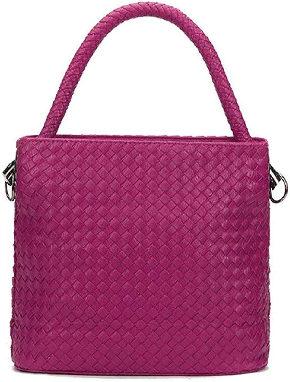 HiSmile Mini Wallet Shoulder Bag Spring And Summer Ladies Korean Version Fashion Woven Bag Messenger Bag Bucket Bag Coin Purse (color   E, Size   One Size)
