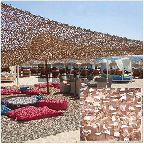 Camuflaje neto 3x5m Toldo de Vela Toldo terraza con pérgola Carpa de protección solar mejorada del camuflaje del desierto neto Marquesina Solar Lona Toldo Balcón decoración del jardín de 4 m 6 m 8 m 1