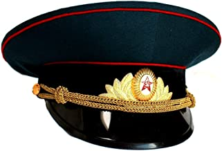 Soviet/ USSR Army Military Parade Hat / Cap ORIGINAL Armor Officer+ Soviet Cap Badge, Size 58