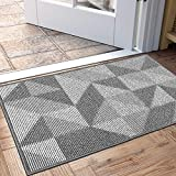 "DEXI Indoor Doormat, Non Slip Absorbent Resist Dirt Entrance Rug, 24""x36"" Machine Washable Low-Profile Inside Floor Door Mat"