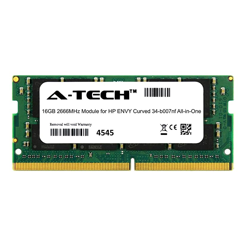 A-Tech 16GB Module for HP Envy Curved 34-b007nf All-in-One (AIO) Compatible DDR4 2666Mhz Memory Ram (ATMS273552A25832X1)