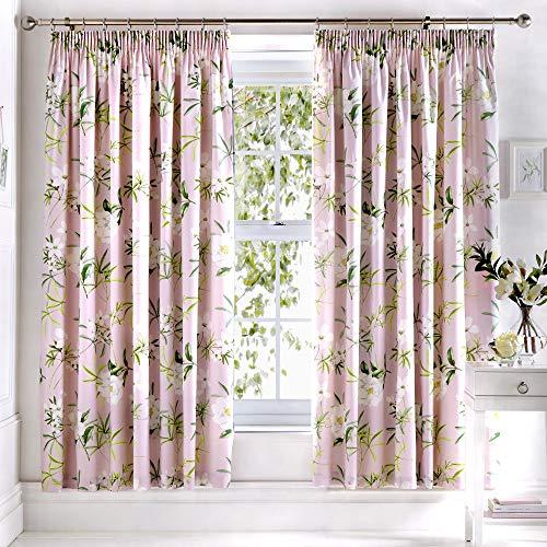 cortinas salon estampado hojas