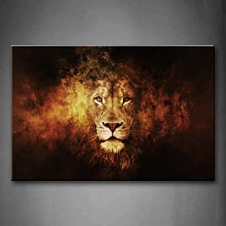 Firstwallart Lion Head Portrait Wall Art Painting Pictures Print On Canvas Animal The Picture for Home Modern Decoration
