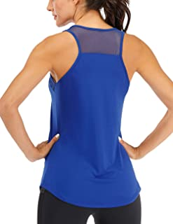 Fihapyli Women's Sleeveless Gym Fitness Workout Clothes for Women Summer Top Active Shirts Yoga Racerback Tank Tops
