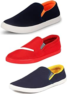 Tempo Men's Combo Pack of 3 Loafers (SLV ORN/SLV Gry/SLV YLW)