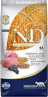 Farmina Natural & Delicious Low Grain Lamb and Blueberry Adult Cat, 11 lb bag