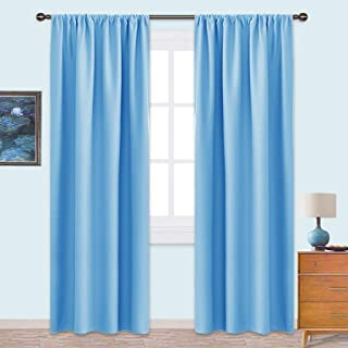 NICETOWN Blackout Curtains Window Draperies - Window Treatment Thermal Insulated Solid Room Darkening Drapes for Bedroom (Set of 2 Panels,42 by 84 inches Long,Blue)