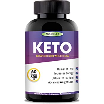 Naturals Fit Keto Advanced Weight Loss Supplement With (Green Tea + Garcinia Cambogia + Green Coffee Extract) 800Mg 60 Capsules