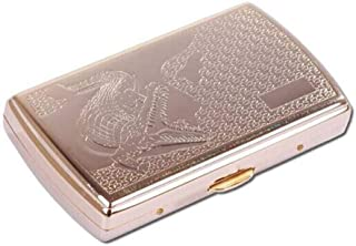 LIFANGAU Cigarette Case, Cigarette Case, 12 Pieces of Cigarette Holder, Copper-Plated Titanium Plating Process (Color : Gold, Sstyle : E)