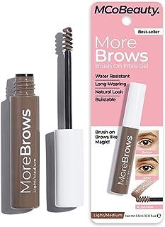 MODELCO More Brows Fiber Brow Gel - Eyebrow Makeup | Light to Medium