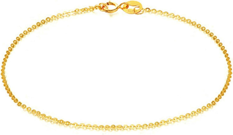Daesar 18ct Yellow Gold Ankle Bracelet, Ankle Bracelets for Women O Shape Chain Ankle Bracelets Gold