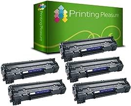Printing Pleasure 2 Compatibles CF283A 83A Cartuchos de tóner para HP Laserjet Pro MFP M125a M125nw M126a M127fn M127fw M128fn M128fw M225dn M225dw M201dw M201n M202dw M202n - Negro, Alta Capacidad